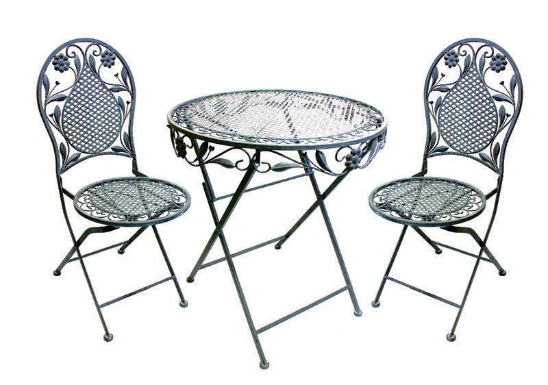garten-tische & stuhl-sets aus eisen mit 3 teilen | ebay,