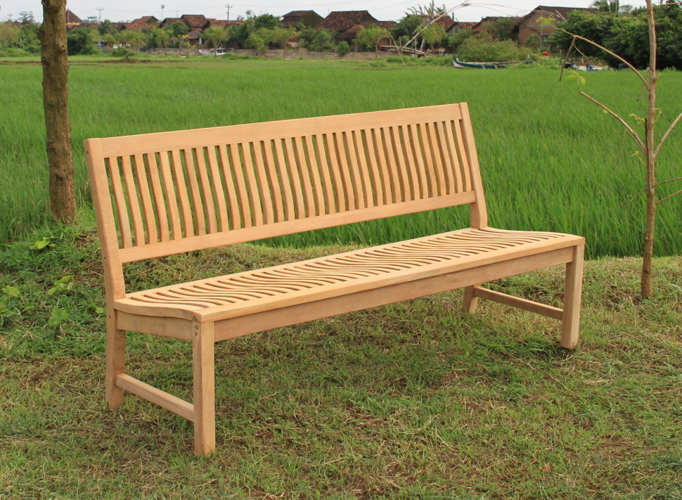 echt teak gartenbank bank sitzbank teakbank 180 x 90 x 60 cm na180 ebay. Black Bedroom Furniture Sets. Home Design Ideas