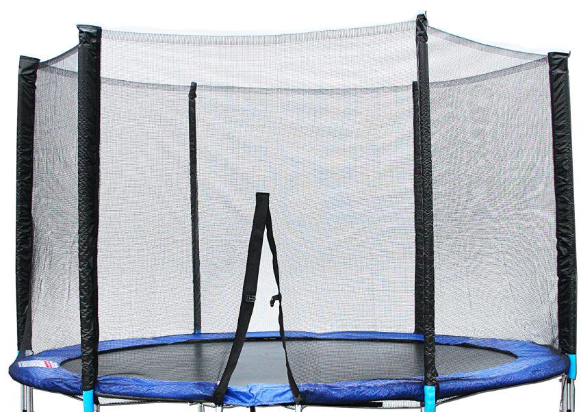 te208 6 sicherheitsnetz trampolinnetz f r trampolin 250 cm 8ft 6 stangen ebay. Black Bedroom Furniture Sets. Home Design Ideas