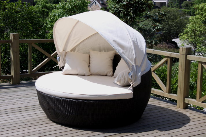 xxl sonneninsel strandkorb sonnenliege sitzgruppe lounge pe rattan ebay. Black Bedroom Furniture Sets. Home Design Ideas
