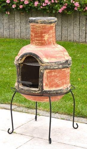 ton aztekenofen mit grill terrassenofen feuerofen tonofen. Black Bedroom Furniture Sets. Home Design Ideas