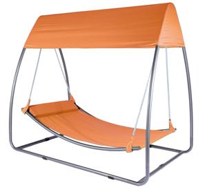 schaukelbett mit dach gartenschaukel schaukeliege. Black Bedroom Furniture Sets. Home Design Ideas