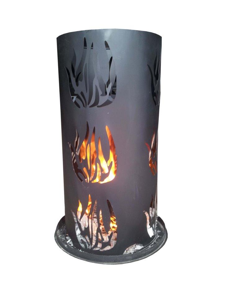 feuerschale feuerstelle feuerkorb feuers ule mit feuerrost. Black Bedroom Furniture Sets. Home Design Ideas