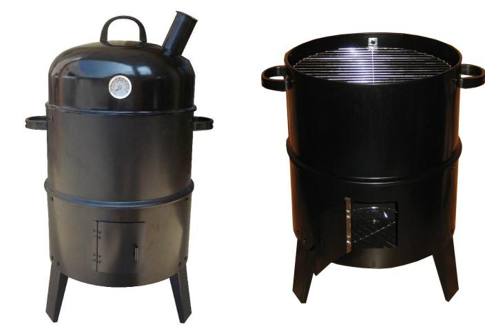 3 in 1 r ucherofen mit grill braten r uchern r uchergrill. Black Bedroom Furniture Sets. Home Design Ideas